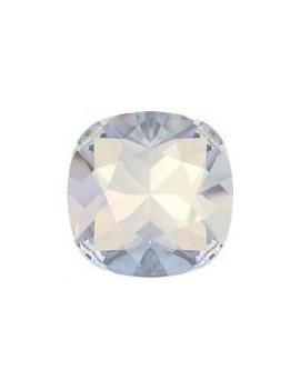 Cabochon carré 10mm white opal foiled
