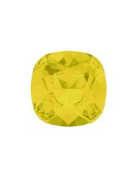 Cabochon 12mm yellow opal foiled