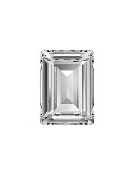 Rectangle stepcut18X13mm Crystal foiled