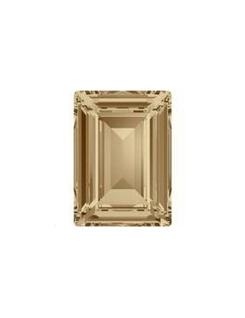 Rectangle stepcut18X13mm Crystal golden shadow foiled