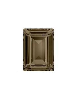 Rectangle stepcut 18x13mm Smoky quartz foiled