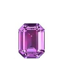 Cabochon rectangle 14X10mm Amethyst foiled