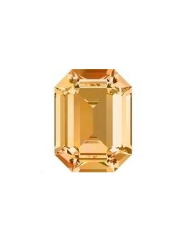 Cabochon Rectangle 14X10mm Topaz foiled