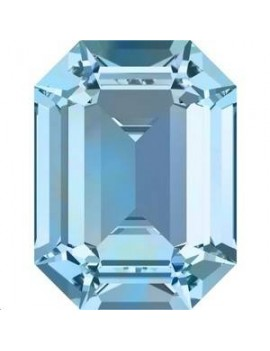 Rectangle 18X13mm Aquamarine foiled
