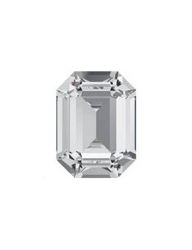 Rectangle 18X13mm Crystal foiled