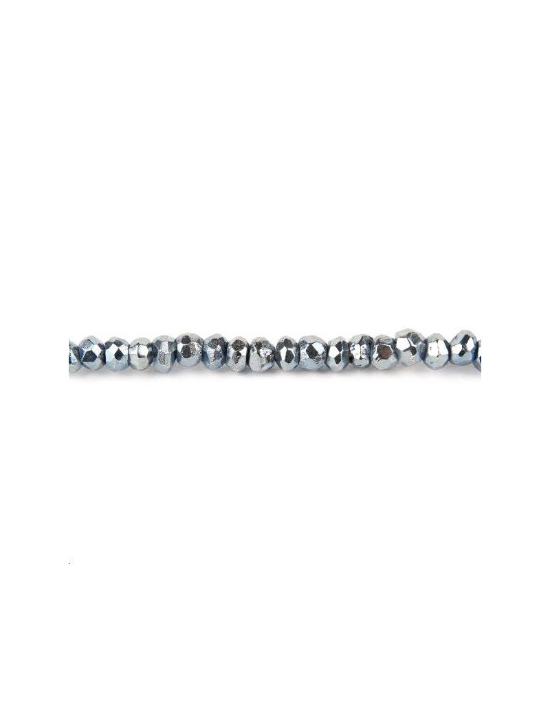 Pyrite rondelle facettes 3-3,5mm argent lot de 5cm (environ 15 perles)