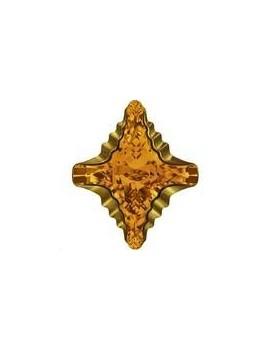 Cabochon Rhombus tribe 19x17mm topaz dorado Z foiled