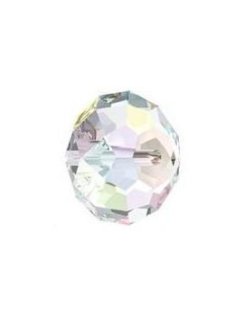 Ronde aplatie briolette 18x12mm crystal AB