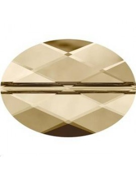 Perle ovale 14x10mm Crystal Golden Shadow