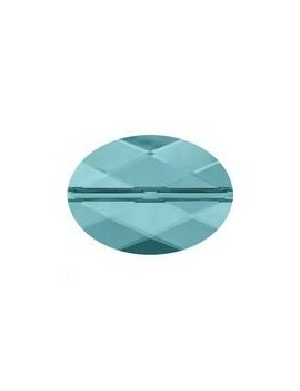 Perle ovale 14x10mm light turquoise