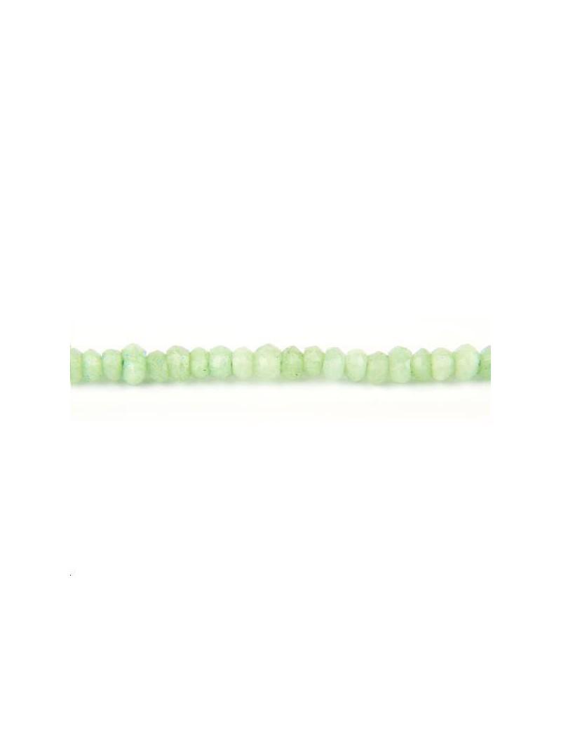 Chrysoprase rondelle facettes 2-4mm lot de 4cm (environ 13 perles)