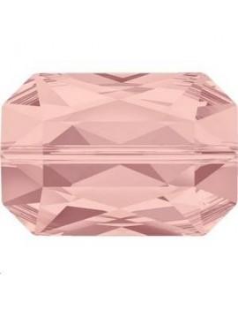 Emerald cut bead 14x9,5mm blush rose