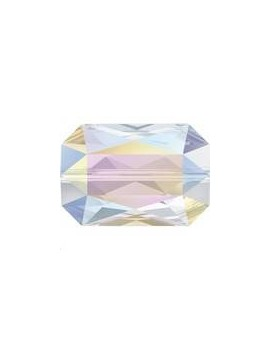 Emerald cut bead 14x9.5mm crystal AB