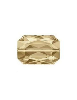 Emerald cut bead 14x9,5mm crystal golden shadow