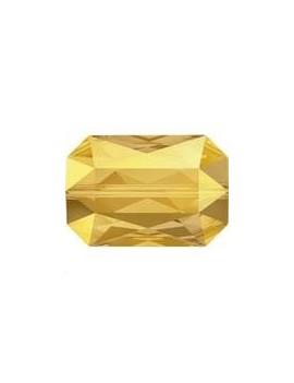 Emerald cut bead 14x9,5mm crystal metallic sunshine