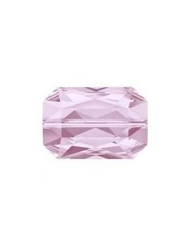 Emerald cut bead 14x9.5mm rosaline