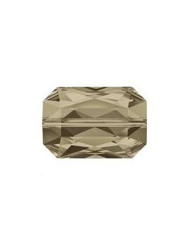 Emerald cut bead 14x9.5mm sm quartz