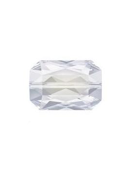 Emerald cut bead 14x9.5mm white opal