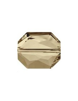 Perle graphic 12x10MM Crystal golden shadow