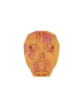 Skull bead 13mm crystal astral pink