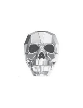 Skull bead 13mm cr light chrome 2X