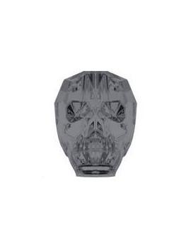 Skull bead 13mm crystal silver night 2X