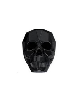 skull bead jet 13mm