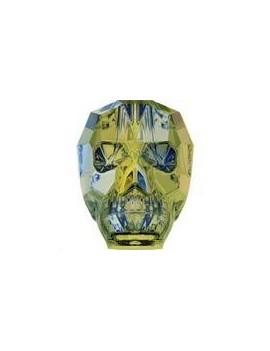 Skull bead 19mm crystal iridescent green