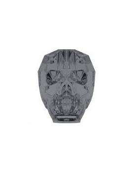 Skull bead 19mm crystal silver night 2X