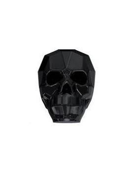 Skull bead jet 19mm