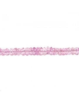 Saphir rondelle facettes 2-3mm rose lot de 2cm (environ 8 perles)