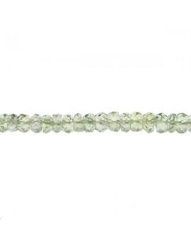 Saphir rondelle facettes 2-3mm vert lot de 2cm (environ 8 perles)