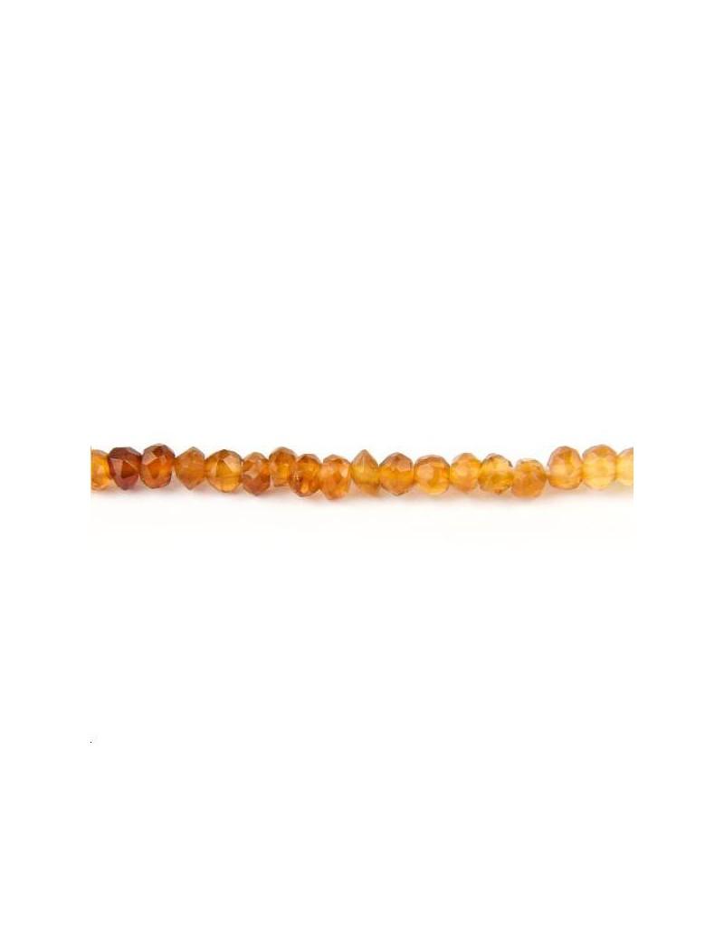 Grenat hessonite rondelle 2,5-3,5mm lot de 5cm (environ 15 perles)
