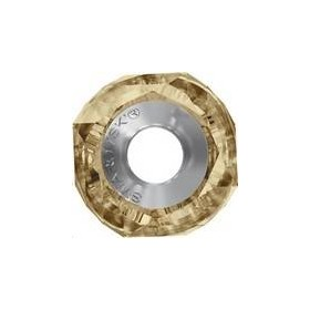 Bechramed Helix bead/Steel 14mm Crystal Golden Shadow