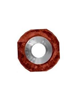 Becharmed Helix bead/Steel 14mm Crystal Red Magma