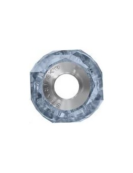 Becharmed Helix bead/Steel 14mm Denim Blue