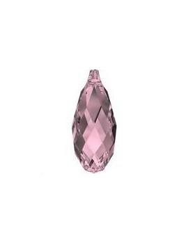 goutte briolette 11mm cr ant pink