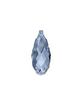 Pendentif goutte briolette 11x5,5mm Denim blue