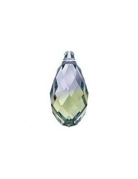 Pendentif goutte briolette 11x5,5mm Provence lavander chrysolite blend