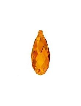 goutte briolette 11mm tangerine