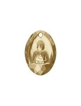 Buddha Pendant 28x19,8mm crystal golden shadow