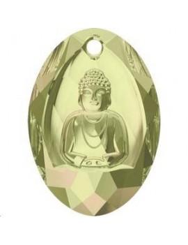 Buddha Pendant 28x19,8mm crystal luminous green
