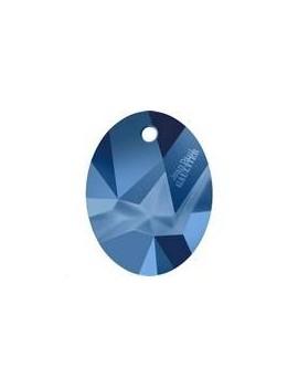 Kaputt oval pendant 26mm crystal metallic blue Designer editionJean Paul Gaultier