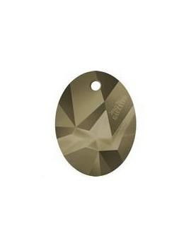 Kaputt oval pendant 26mm crystal metallic light gold Designer edition Jean Paul Gaultier