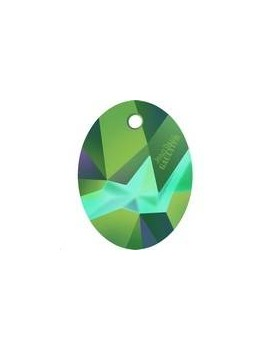 Kaputt Oval pendant 26mm crystal scarabaeus green Designer edition Jean Paul Gaultier