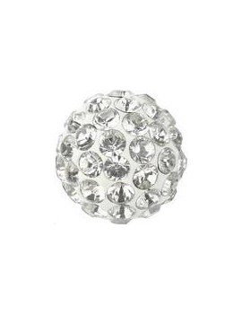 Pave ball 6mm crystal