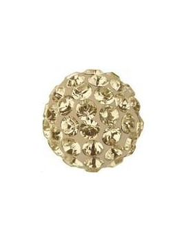 Pave ball 6mm crystal golden shadow