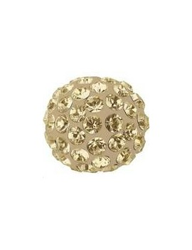 Pave ball 8mm crystal golden shadow
