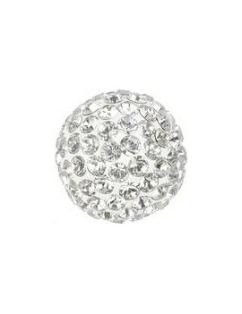 Pave ball 10mm crystal