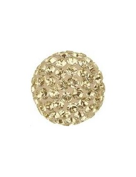Pave ball 10mm crystal golden shadow